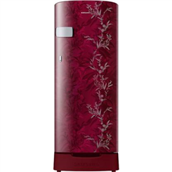 SAMSUNG Direct Cool Refrigerator ( Single Door,Mystic Overlay Red,192 L,2 Star BEE Rating,RR19A2Z2B6R/NL )
